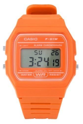 Casio F-91WC-4A2EF Mens Digital Orange Watch