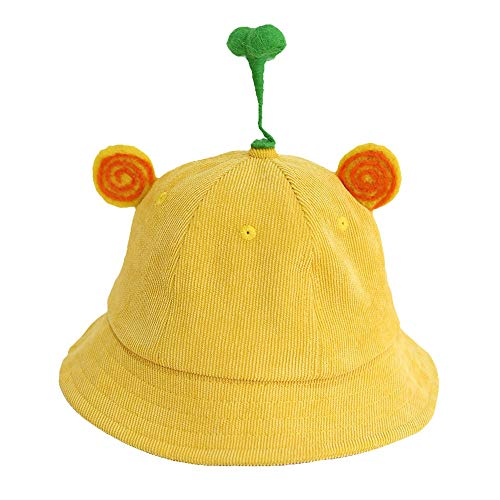 - Longay 3-4 Year Old Baby Fisherman Hat Sunshade Sun Protection Yellow Cap (A)