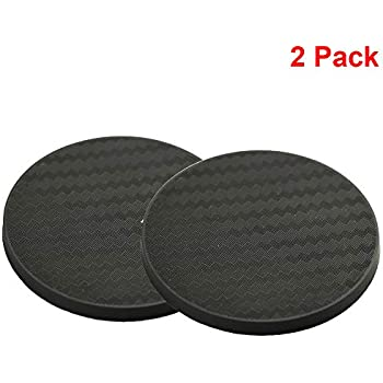 """2 /""""JEEP with puppy paws/"""" Thick Rubber Car Coasters One Pair"""