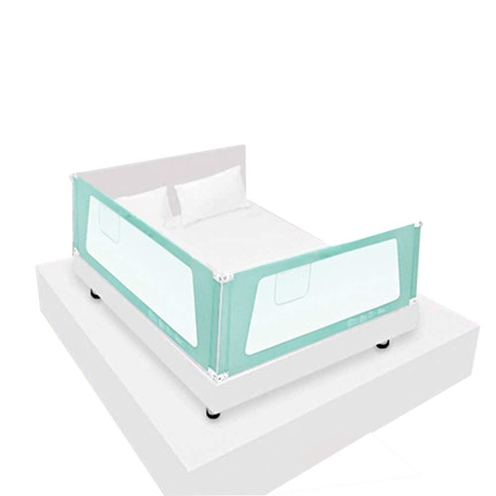 CQILONG ベッドレールガードレール5段調整オールスチール製安定した通気性ネット幼児向け、2色、2サイズ (色 : 緑, サイズ さいず : 200x180x72-82cm) 200x180x72-82cm 緑 B07S1N4MNT