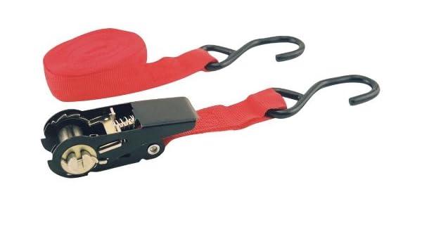 Erickson 51401 Red 1 x 15 Motorcycle or ATV Ratchet Lashing Tie-Down Strap