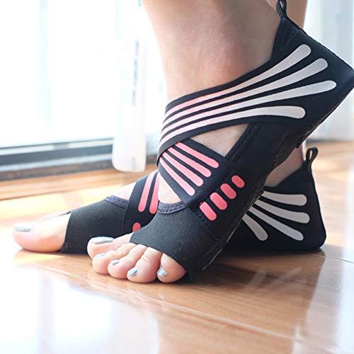 Adult Fingers Socks Indoor Bottom Shoes Five Yoga Female Non Slip Aerial Pink Beginner Slip Size ChengYi Yoga Soft Shoes Professional UK Yoga 4 qUSOOw8