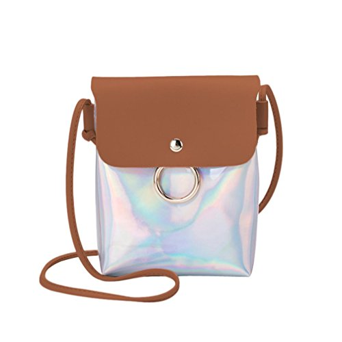 Handbags VEMOW Women Girl Anti Theft Messenger Vintage Strap Purse Tote Crossbody Bag Satchel Bags Purses Backpacks Shoulder Bags Clutches, Laser Cover Ring Hasp Coin Phone Bag Brown