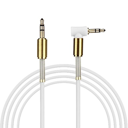 3.5mm Jack Aux 3.5mm Male to Male Recording Line Audio Cable (White) - 9