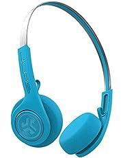 JLab Audio Rewind Draadloze Retro Hoofdtelefoon - Bluetooth 4.2 Twaalf Uur Speeltijd Custom EQ3 Geluid Spelen en pauzeren Uw Muziek Antwoord & Hang Up Telefoongesprekken en Track Forward Throwback 80s 90s (Blauw)