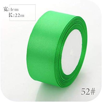6mm 10mm 15mm 20mm 25mm 40mm 50mmサテンリボンホワイトピンクレッドブルーパープルグリーンブラックイエローオレンジリボン34色ピックアップ-52 Fruit Green-25mm