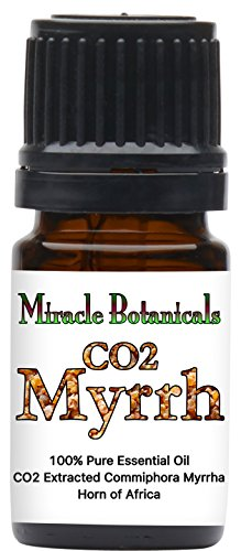 Miracle Botanicals CO2 Extracted Myrrh Essential Oil - 100% Pure Commiphora Myrhha - Therapeutic Grade - 5ml by Miracle Botanicals