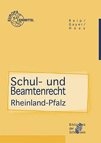 schul-und-beamtenrecht-rheinland-pfalz-fr-die-lehramtsausbildung-und-schulpraxis-in-rheinland-pfalz