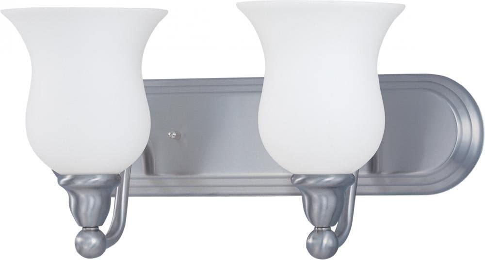 Nuvo 60 1813 Glenwood 2-Light Vanity, Brushed Nickel