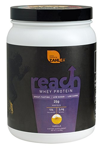 Zahlers Reach, Whey Protein Shake powder, advanced formula for Lean muscle build, all-natural weight management product, naturally sweetened and flavored, Certified Kosher, #1 best great delicious tasting Vanilla Flavor, 1.1 Pound Review