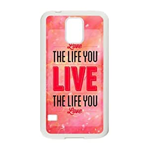 diy zhengPerfect as Christmas gift-Life Quotes Live The Life You Love case Hard Plastic PC Protective Cover case Accessories for iphone 5/5s Case-04