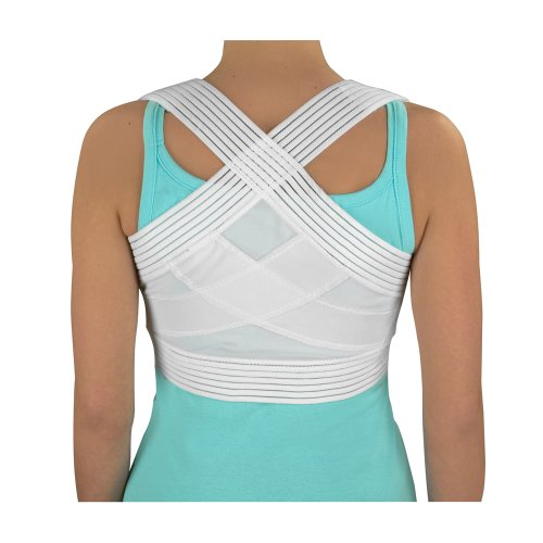 Duro-Med Posture Corrector, Unisex, Medium Posture Support Brace, Helps Reduce Back Pain, 34 to 36 Inches, Comfortable and Thin, White by Duro-Med