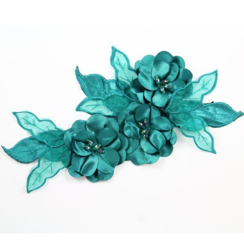 Beads4crafts 1 Green Applique Crystals Sew On Bridesmaid Accessorize Dress 285X140Mm Hl1040 by Beads4crafts