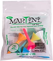 "Martini Golf Tees 2"" Durable Plastic Tees (6-Pack), Assorted C"