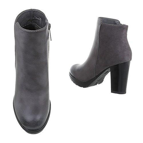 Ital-Design Women's Schlupfstiefel Grey ypYPR5f2