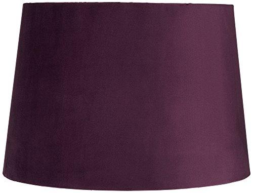 plum velvet hardback drum lamp