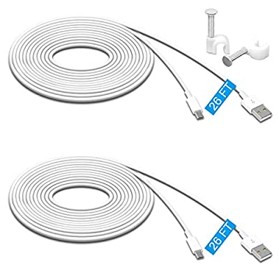 2 Pack 26FT Power Extension Cable for Wyze Cam Pan