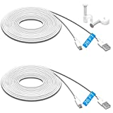 2 Pack 26FT Power Extension Cable for Wyze Cam Pan,WyzeCam,Kasa Cam.YI Dome Home Camera,Furbo Dog,Nest Cam,Blink,Amazon Cloud Camera,Durable Charging and Data Sync Cord for Home Security Camera