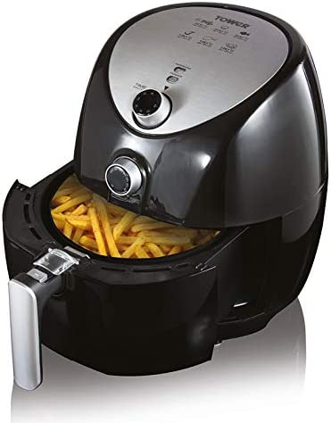 Tower T17021 Manual Air Fryer Oven with Rapid Air Circulation and 60 Min Timer, 4.3 Litre, Black