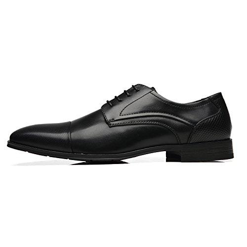 Faranzi Oxford Shoes For Men Cap Toe Oxford Mens Dress Shoes Zapatos de Hombre Lace Up Comfortable Classic Modern Formal Business Shoes Frince-1-black kCmMA