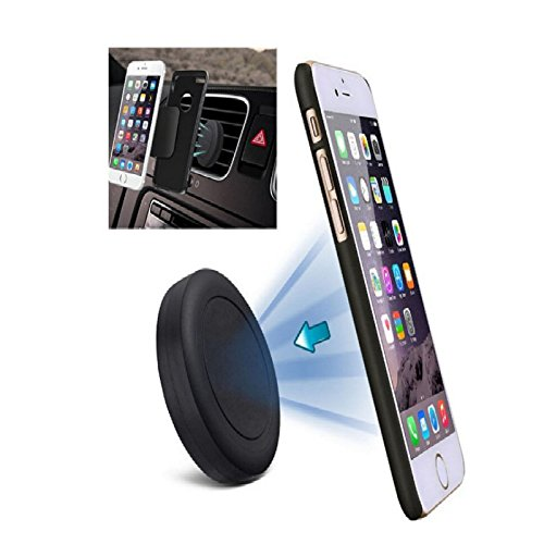 Moona Premium Universal Air Vent Magnetic Car Mount Holder with Fast Snap Technology for iPhone Galaxy and Nexus Cell Phone and Mini Tablet (Black)