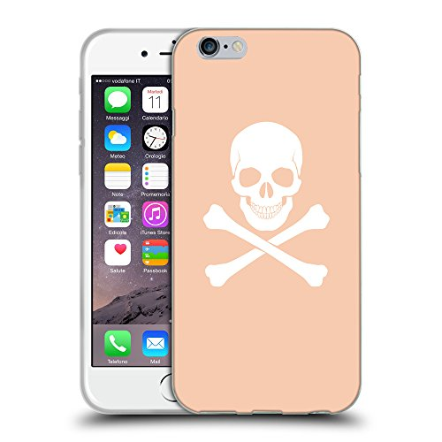 GoGoMobile Coque de Protection TPU Silicone Case pour // Q09470604 Os croisés 2 Abricot // Apple iPhone 6 4.7""