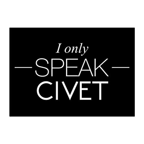 Idakoos - I only speak Civet - Animals - Sticker Pack (Civets Animals)