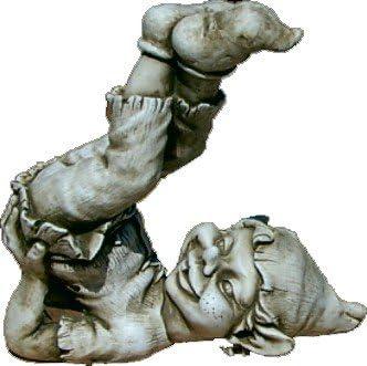 DEGARDEN Figura Decorativa Duende de hormigón-Piedra para jardín o ...