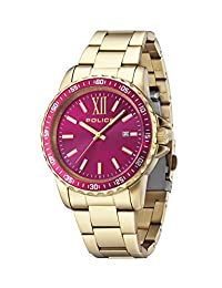 Police Women's PL14494JSG31M Fashion Las Vegas Watch with 3 Hands with Date