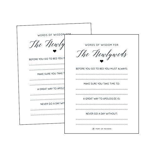 Wedding Reception Games.Amazon Com Words Of Wisdom Cards Wedding Reception Game Set Of 20