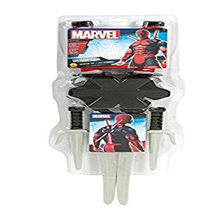 Deadpool Weapon Kit (Evolution's Co Men's Marvel Classic Deadpool Weapon Accessory Kit Halloween Costume by Evolution Engines)
