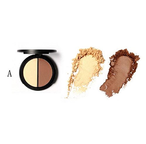 Anboo Focallure Make up Face Bronzer & Highlighter 2 Diff Color Concealer Matte Powder (01)