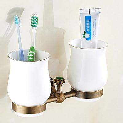 Edge To Borde para cepillo de dientes soporte Full cobre envejecido vaso para cepillos de dientes soporte Retro soporte para cepillos de dientes accesorio ...