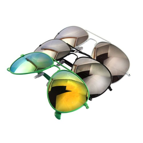 Chic-Net sunglasses aviator sunglasses mirrored black green white unisex glasses 400 UV wayfarer - Sunglasses Chic 2014