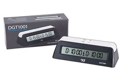 DGT 1001 Digital Chess Clock - Black by The House of Staunton, Inc.