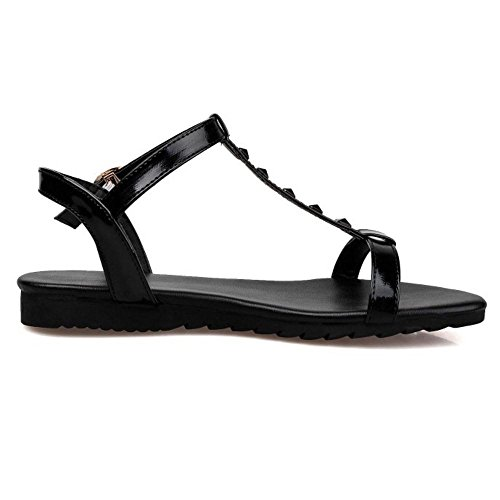 COOLCEPT Damen Open Toe Sandalen Schuhe Black