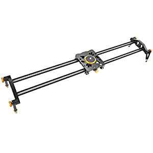 Neewer 39.4 inches/100 centimeters Carbon Fiber Camera Track Slider Video Stabilizer Rail with 6 Bearings for DSLR Camera DV Video Camcorder Film Photography, Load up to 17.5 pounds/8 kilograms