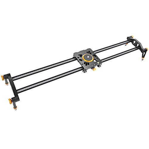 Neewer 23.6 inches/60 centimeters Carbon Fiber Camera Track Slider Video Stabilizer Rail with 6 Bearings for DSLR Camera DV Video Camcorder Film Photography, Load up to 17.5 pounds/8 kilograms