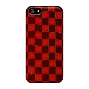 5/5s Scratch-proof Protection Case Cover For Iphone/ Hot Red Checkers Phone Case