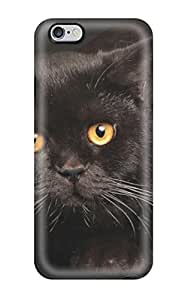 JessicaBMcrae JhPjLba1526JLTol Skin For Case Cover For SamSung Galaxy S4 Mini (chubby Black Cat With Yellow Eyes)