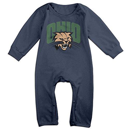 HOHOE Babys Ohio University Bobcats Long Sleeve Baby Climbing Clothes 12 M