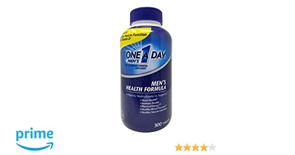 One A Day Mens Health Formula, 300 Tablets Complete Multivitamin with Lycopene Support Health Health, Immune, Heart, Healthy Blood Pressure: Amazon.es: ...