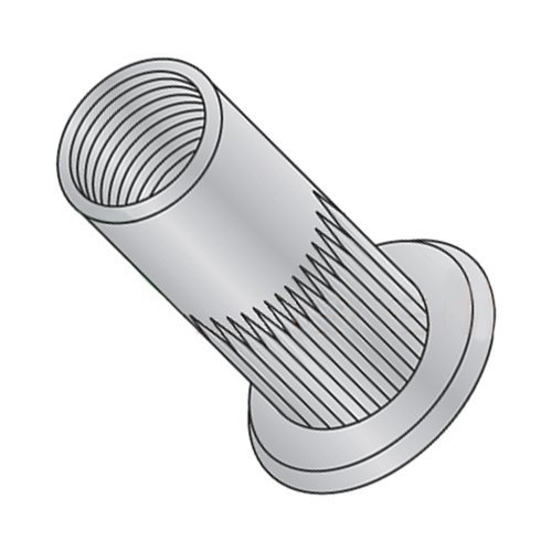 Carton: 1,000 pcs 8-32 Max Grip .080 Large Flange Ribbed Blind Threaded Inserts//Aluminum Alloy 5056