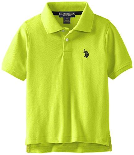 U.S. Polo Assn. Big Boys' Classic Short Sleeve Solid Pique Polo Shirt, Apple Green, 18 Classic Apple Green