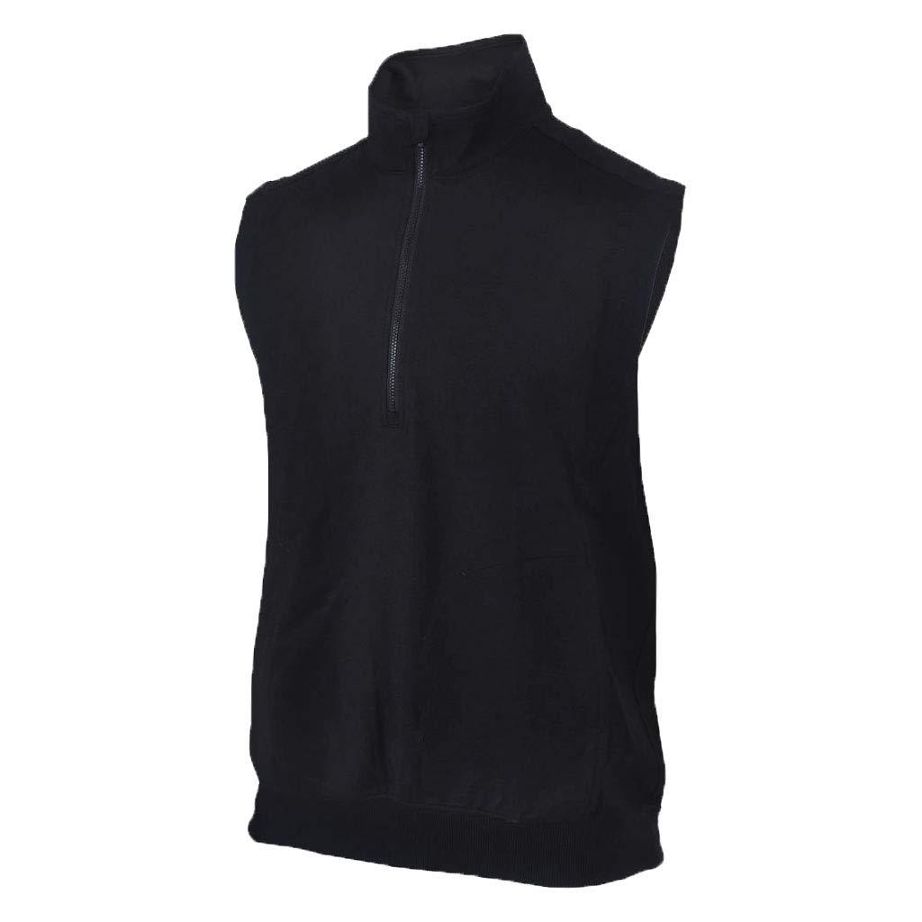 Monterey Club Mens Zip Up Vest #1804 (Black, 2X-Large)