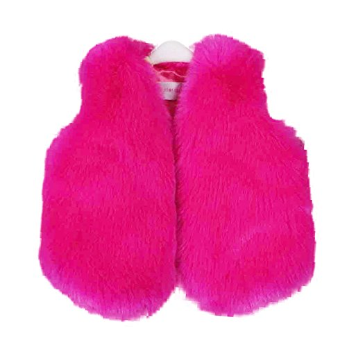 Girls Vest Faux Fur Coat 2t 3t ()