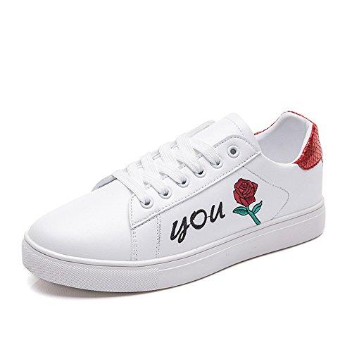Ligeros Primavera para red de Pequeños Zapatos Blancos Zapatos Mujer Otoño white de Deportivos Hasag Estudiantes Zapatos Zapatos Casuales B y HqZIx6wS
