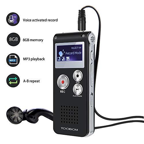 Voice Recorder TOOBOM R01 Digita...