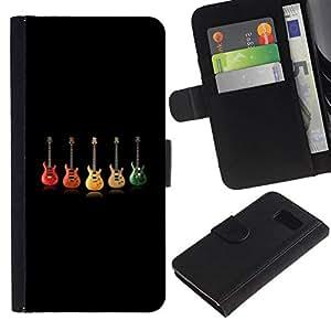 All Phone Most Case / Oferta Especial Cáscara Funda de cuero Monedero Cubierta de proteccion Caso / Wallet Case for Samsung Galaxy S6 // Color Guitars
