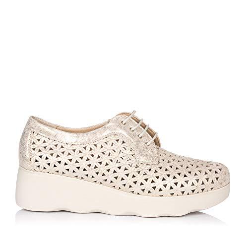 zapatos deportivos 61ee1 e43db PITILLOS 5590 Zapato Cordon Plataforma Mujer